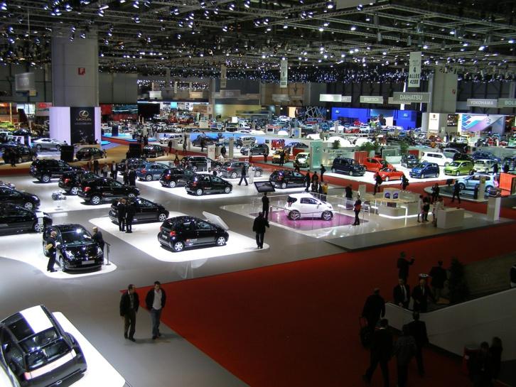 Salon auto (ici celui de Genève) ILD