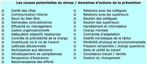 La boîte à outils du préventeur (3): identifier les causes du stress au travail