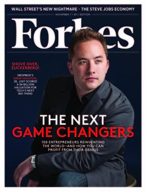 Drew Houston, co-fondateur de Dropbox, à la une de Forbes Magazine - Couverture du 7 Novembre 2007