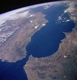 Vue de la mer Méditerranée
