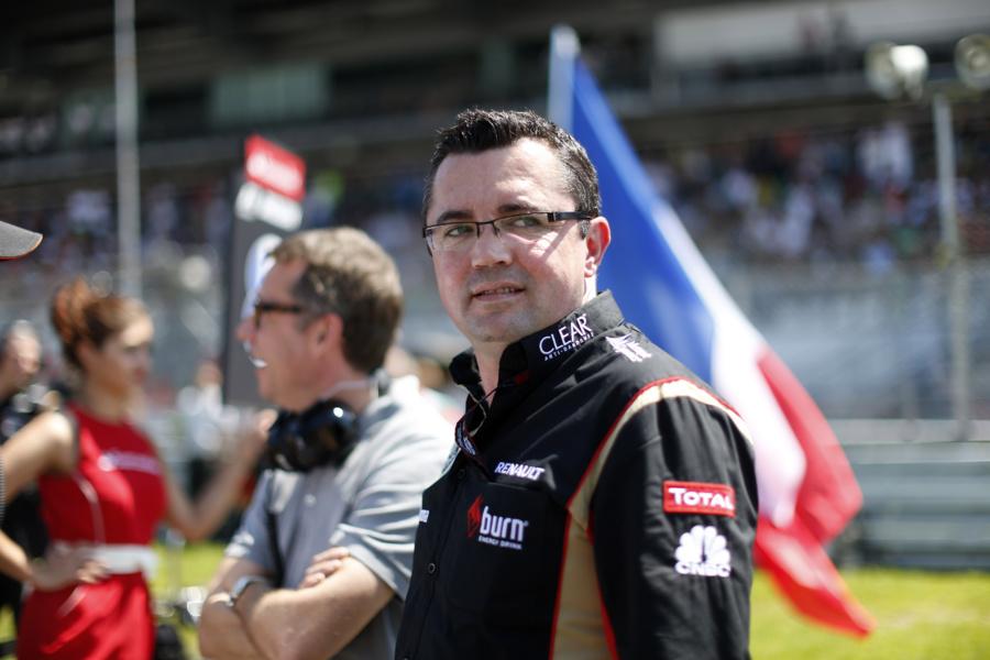 Éric Boullier, patron de l'écurie Lotus F1 Team