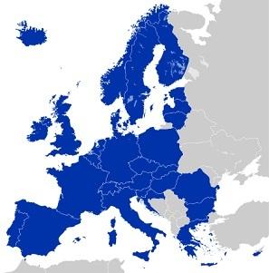 Les pays compris dans l'espace SEPA - Crédit photo : Know-World