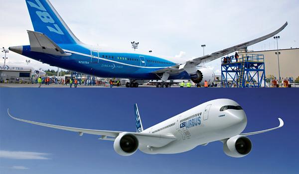 Concurrence, Boeing prend le large sur Airbus au premier semestre 2014