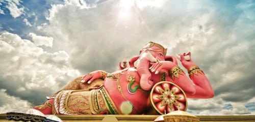 """Représentation de Ganesha, divinité indienne qui """"supprime les obstacles"""" / © tomgigabite - Fotolia.com"""